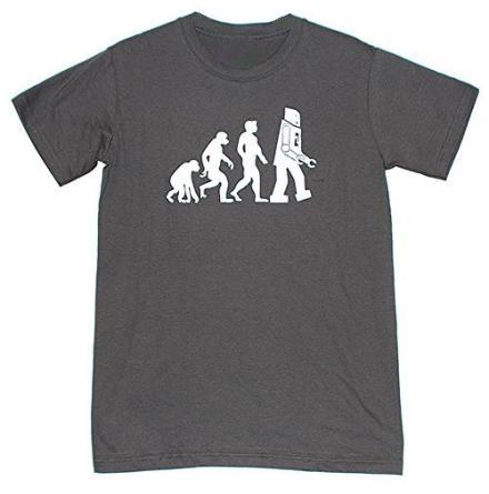 T-Shirt - Men-Robot - Grå