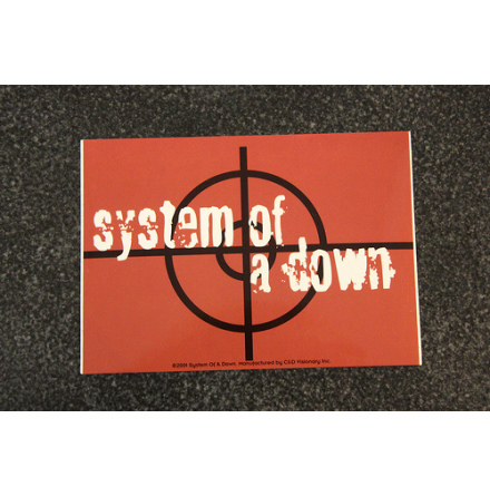 System Of A Down - Red - Klistermärke