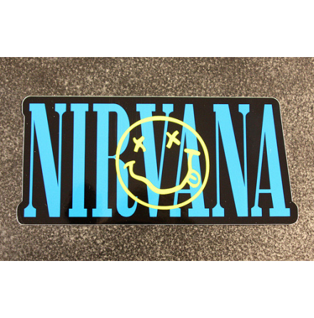 Nirvana - Smiley Stor - Klistermärke