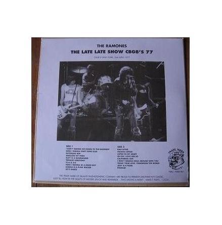 LP - Ramones - The Late Late Show CBGB´s 77