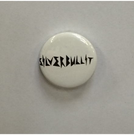 Silverbullit - Vit Logo - Badge