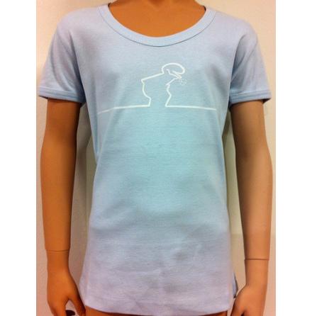 Barn T-Shirt - Linus - Ljusblå