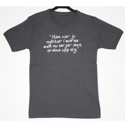 T-Shirt - Nykter - Grå