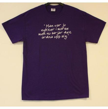T-Shirt - Nykter - Lila
