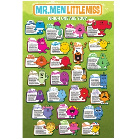 Poster-Mr Men & Little Miss