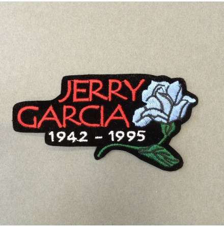 Jerry Garcia - 1942-1995 - Tygmärke