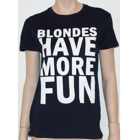 Dam Topp - Blondes Have More Fun - Blå