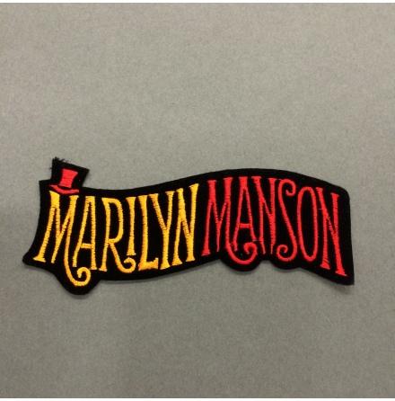 Marilyn Manson - Svart Orange/Röd Logo - Tygmärke