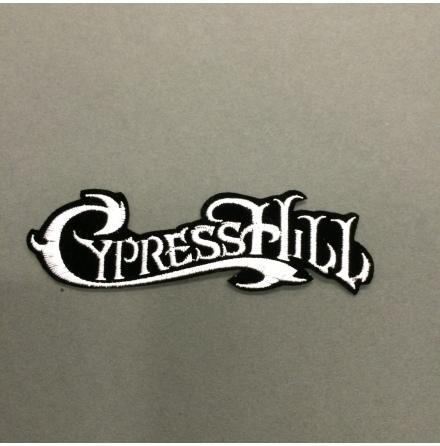Cypress Hill - Svart/Vit Text Logo - Tygmärke