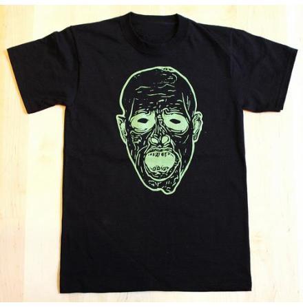 T-Shirt - Face - Svart/Grön