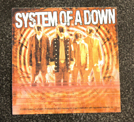 System Of A Down - Bodys - Klistermärke