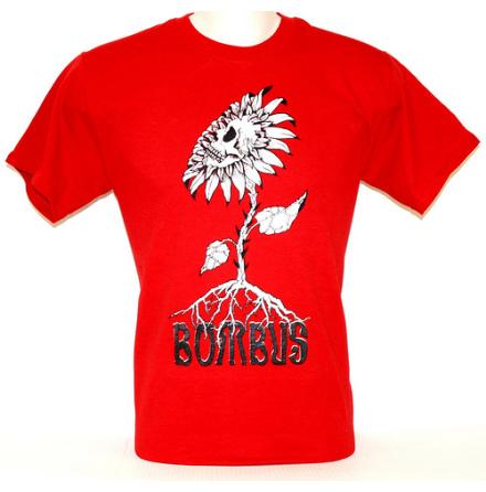 T-Shirt - Skullflower Röd