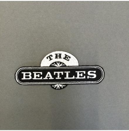 Beatles - Svart/Vit Logo - Tygmärke