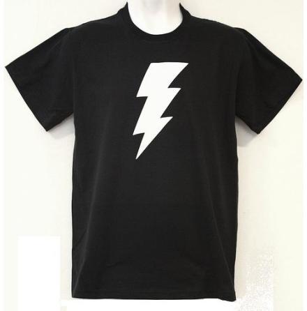 T-Shirt - Blixt Svart/Vit