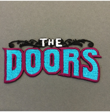 The Doors - Logo Turkos - Tygmärke