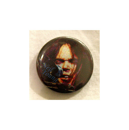 Neil Young - Ansikte - Badge