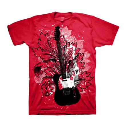 T-Shirt - Guitar Floral