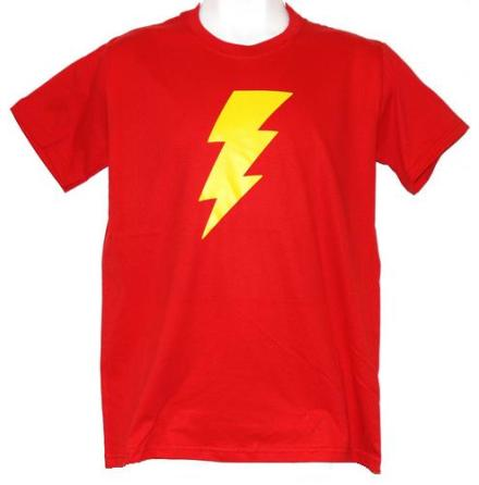 T-Shirt - Blixt Röd/Gul