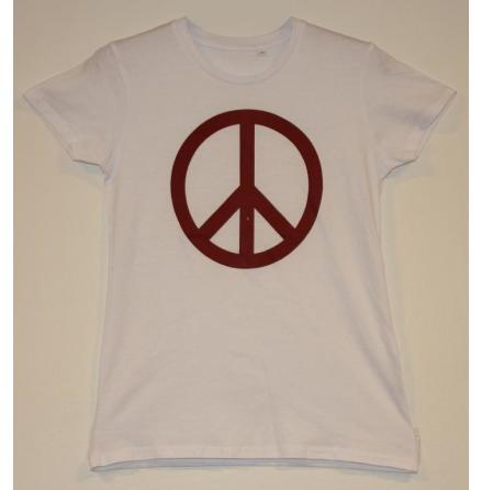 Dam Topp - Peace Symbol - Vit