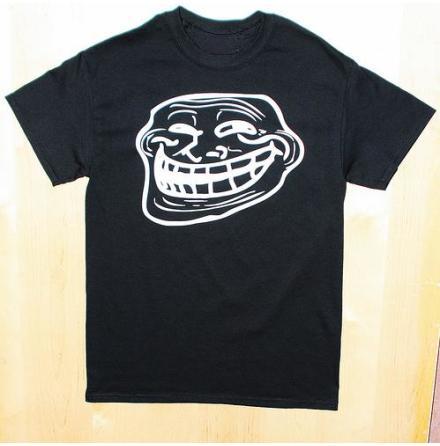 T-Shirt - Trolface - Svart/Vit