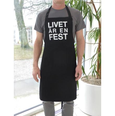 """Grillförkläde """"Livet är en fest"""""""