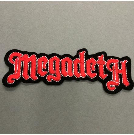 Megadeth - Svart/Röd Logo - Tygmärke
