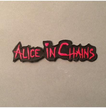Alice In Chains - Svart/Röd Logo - Tygmärke