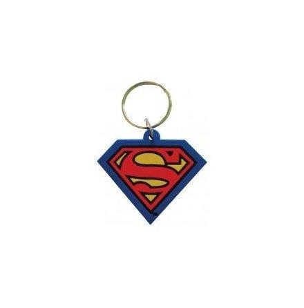 Superman - Gummi Nyckelring