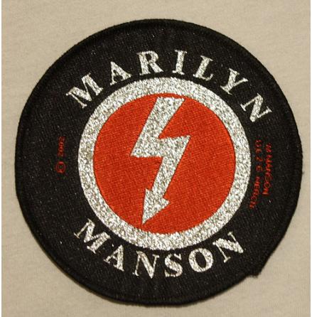 Marilyn Manson - Blixt Logo - Tygmärke