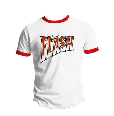 T-Shirt - Flash - White And Red Ringer