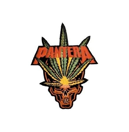 Pantera - Skull/Weed - Tygmärke