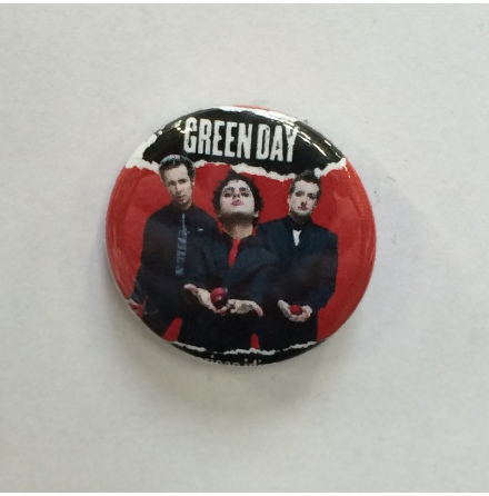 Green Day - Band Röd - Badge