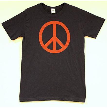 T-Shirt - Peace Symbol - Mörkblå