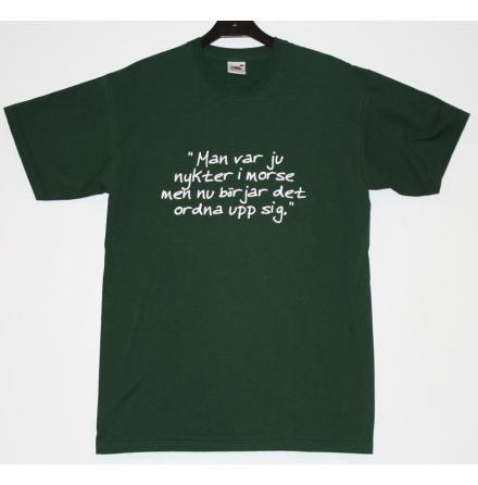 T-Shirt - Nykter - Mörkgrön