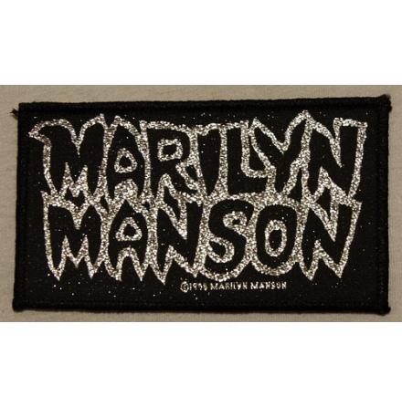 Marilyn Manson - Silver Logo - Tygmärke