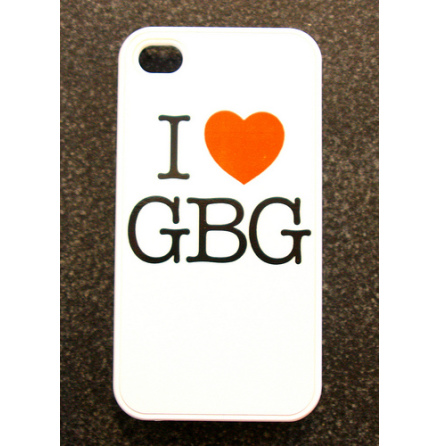 I Love GBG Vit - iPhone Cover 4/4S