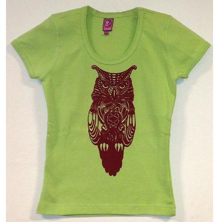 Barn T-Shirt - Uggla - Röd/Grön