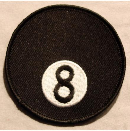 8-ball - Tygmärke