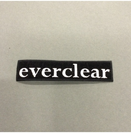 Everclear - Svart/Vit Logo - Tygmärke