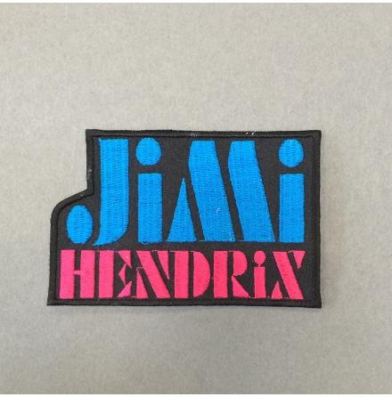 Jimi Hendrix - Blå/Rosa Logo - Tygmärke