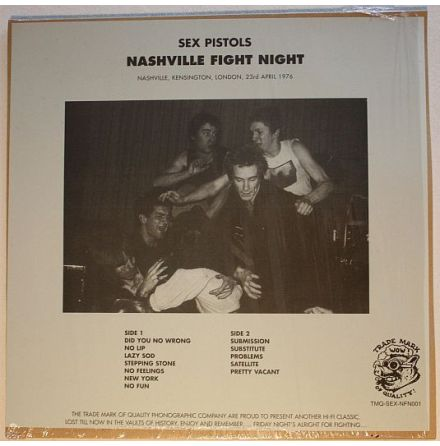 LP - Sex Pistols - Nashville Fight Night