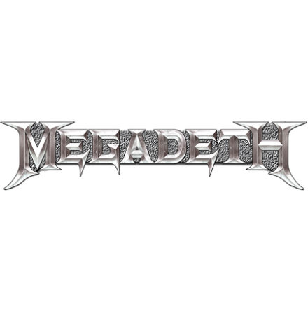Megadeth - Chrome logo - Pin