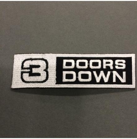 3 Doors Down - Vit/Svart Logo - Tygmärke