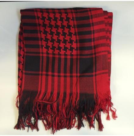 Palestinasjal - Röd/Svart