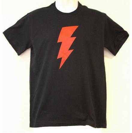 T-Shirt - Blixt Svart/Röd