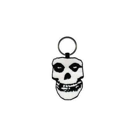 Misfits -  Fiend Skull - Embroidered Oval Keychain