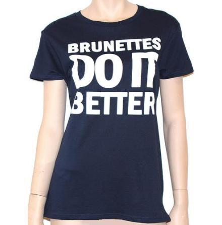 Dam Topp - Brunettes Do It Better - Blå