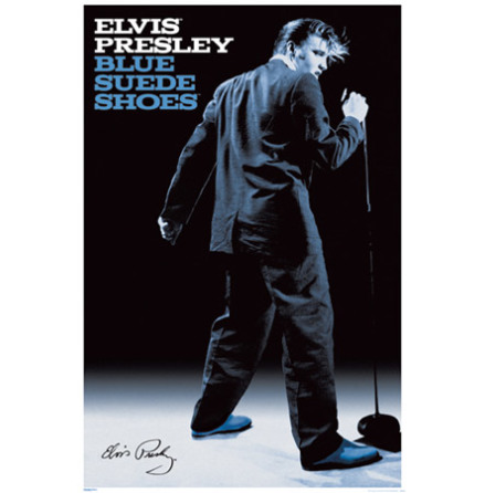Blue Suede Shoes - Poster