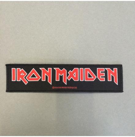 Iron Maiden - Svart/Röd Logo - Tygmärke
