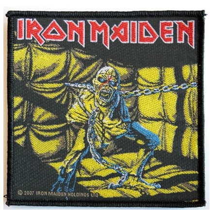Iron Maiden - Piece of Mind - Tygmärke